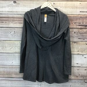 Lucy Cowlneck Pullover With Pockets Small Gray